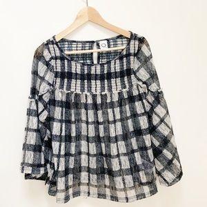 Anthropologie akemi+kin plaid blouse S